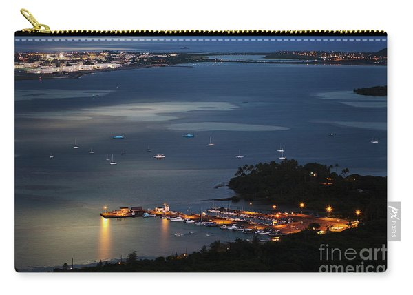 Night At Kaneohe Bay And Heeia Pier Carry-all Pouch