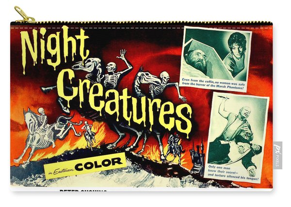 Night Creatures, Horror Movie Poster Carry-all Pouch