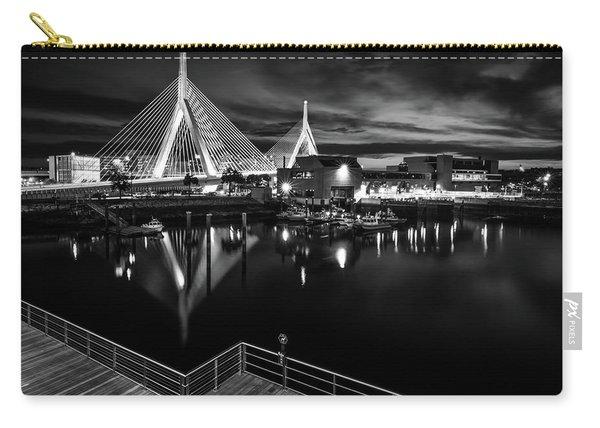 Night Falling On Zakim Bridge Carry-all Pouch