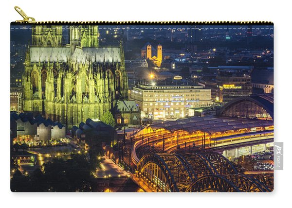 Night Falls Upon Cologne 1 Carry-all Pouch