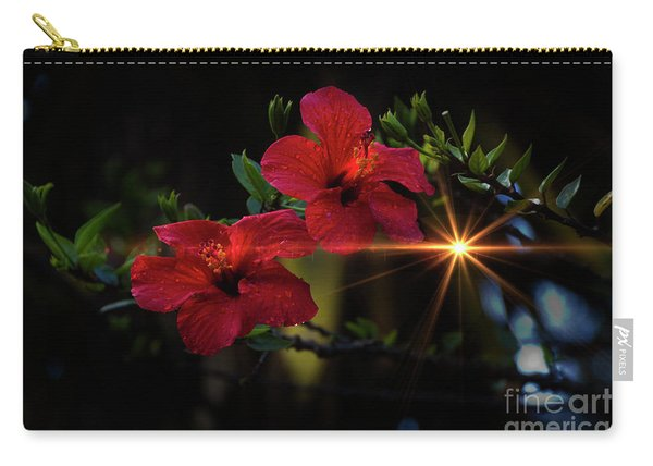 Night Hibiscus Carry-all Pouch