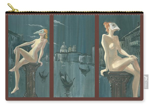 Night In Venice. Triptych Carry-all Pouch