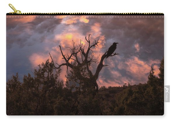 Night Of The Raven Carry-all Pouch
