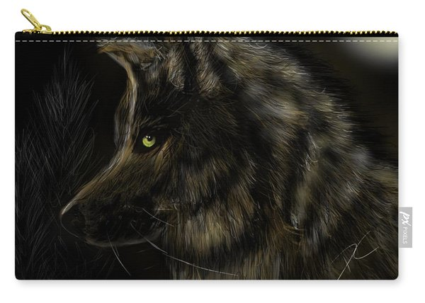 Night Silent Wolf Carry-all Pouch
