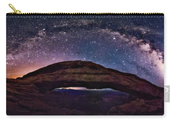 Night Sky Over Mesa Arch Utah Carry-all Pouch