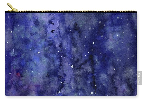 Night Sky Watercolor Galaxy Stars Carry-all Pouch