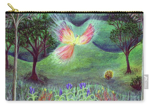 Night With Fire Bird And Sacred Bush Carry-all Pouch