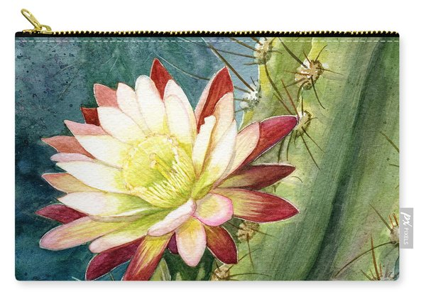 Nightblooming Cereus Cactus Carry-all Pouch