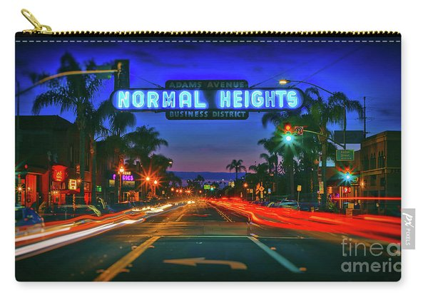 Nighttime Neon In Normal Heights, San Diego, California Carry-all Pouch