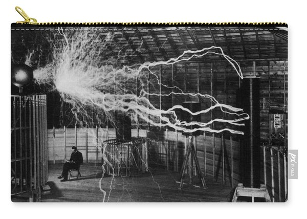 Nikola Tesla - Bolts Of Electricity Carry-all Pouch