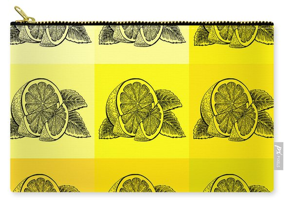 Nine Shades Of Lemon Carry-all Pouch