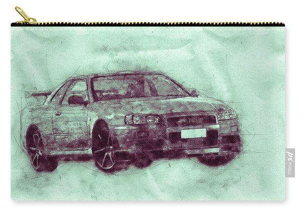 Nissan Skyline Gt-r 3 - Spors Car - Automotive Art - Car Posters Carry-all Pouch