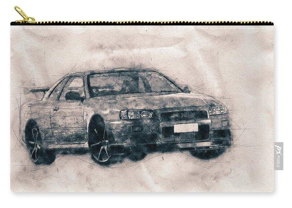 Nissan Skyline Gt-r - Spors Car - Automotive Art - Car Posters Carry-all Pouch