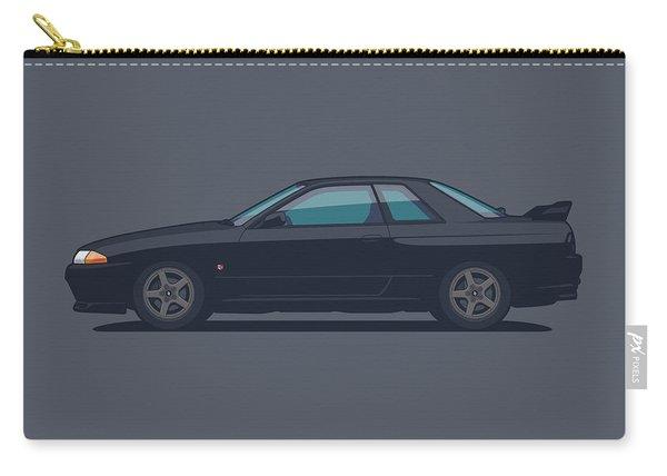 Nissan Skyline R32 Gt-r - Plain Black Carry-all Pouch