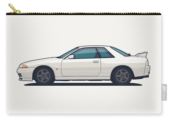 Nissan Skyline R32 Gt-r - Plain White Carry-all Pouch
