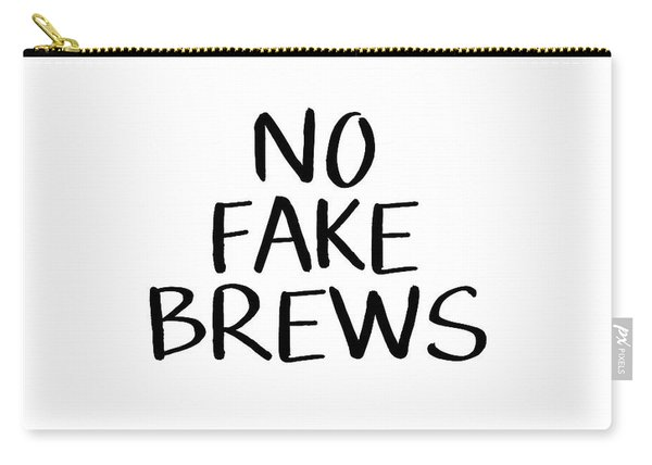 No Fake Brews- Art By Linda Woods Carry-all Pouch