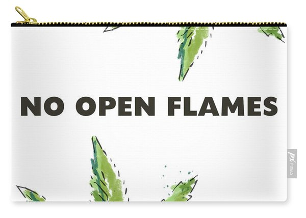 No Open Flames Sign- Art By Linda Woods Carry-all Pouch