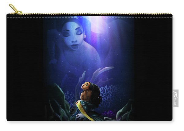 Carry-all Pouch featuring the digital art No Ordinary Love by Nelson Dedos Garcia