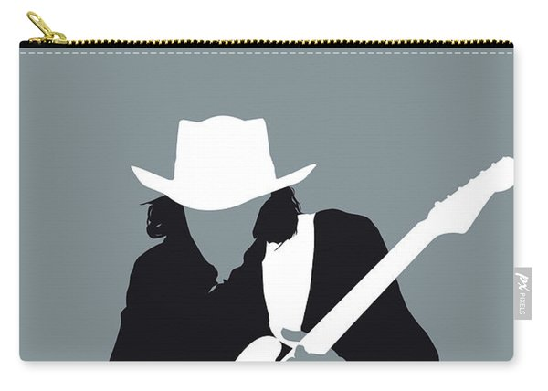 No087 My Stevie Ray Vaughan Minimal Music Poster Carry-all Pouch
