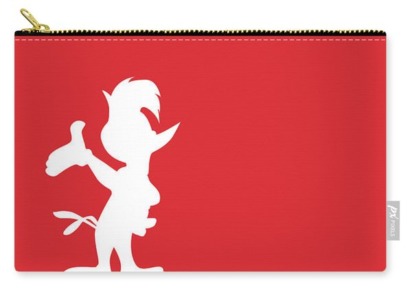 No12 My Minimal Color Code Poster Woody Woodpecker Carry-all Pouch