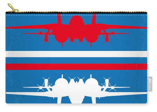 No128 My Top Gun Minimal Movie Poster Carry-all Pouch