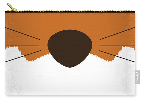 No673 My Fantastic Mr Fox Minimal Movie Poster Carry-all Pouch