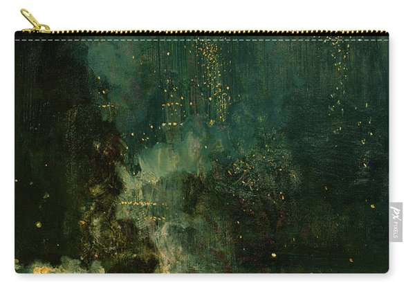 Nocturne In Black And Gold - The Falling Rocket Carry-all Pouch