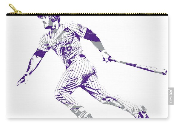 Nolan Arenado Colorado Rockies Pixel Art 12 Carry-all Pouch