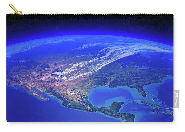 North America Seen From Space Carry-all Pouch