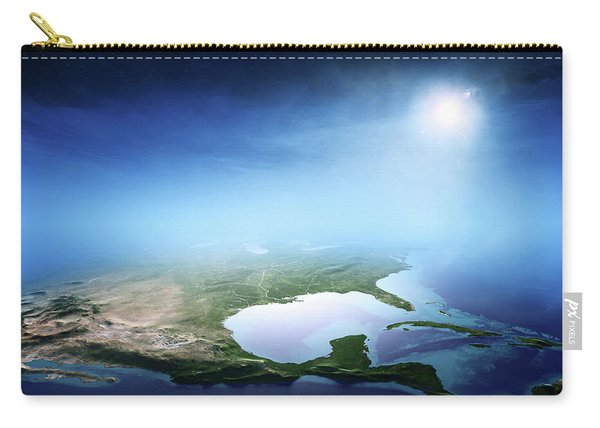 North America Sunrise Aerial View Carry-all Pouch