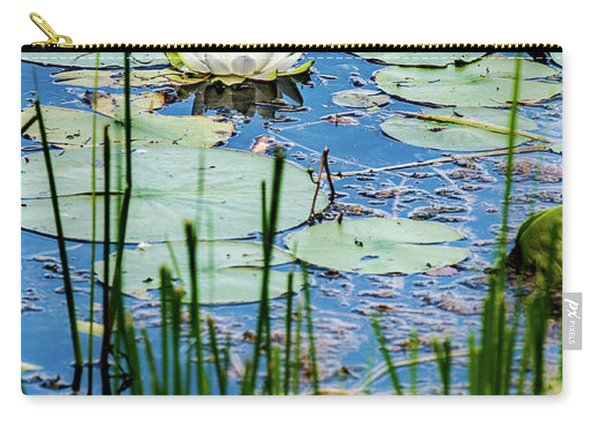 North American White Water Lily Carry-all Pouch