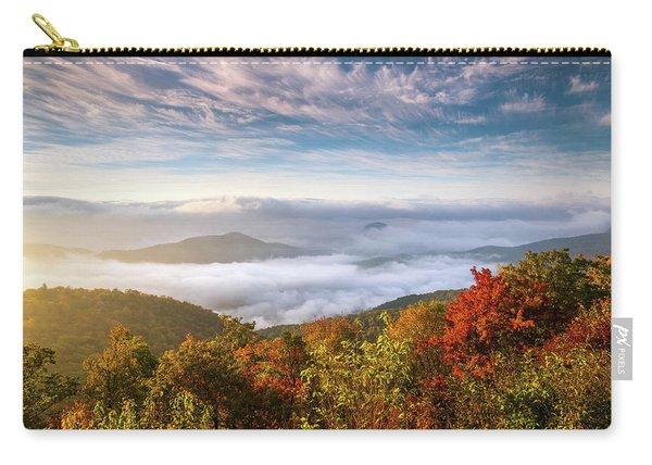 North Carolina Autumn Sunrise Blue Ridge Parkway Fall Foliage Nc Mountains Carry-all Pouch