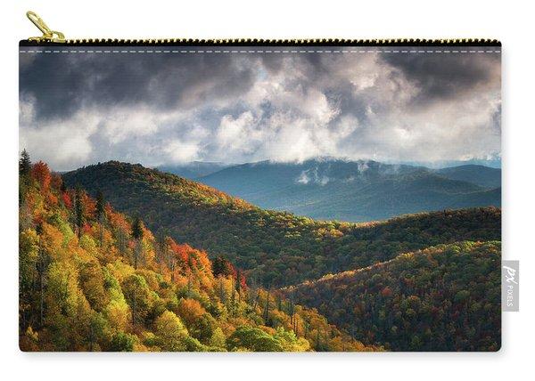 North Carolina Mountains Asheville Nc Autumn Sunrise Carry-all Pouch