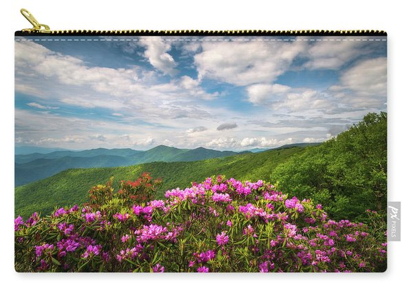 North Carolina Spring Flowers Mountain Landscape Blue Ridge Parkway Asheville Nc Carry-all Pouch