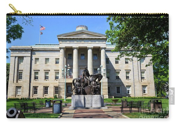 North Carolina State Capitol Building With Statue Carry-all Pouch