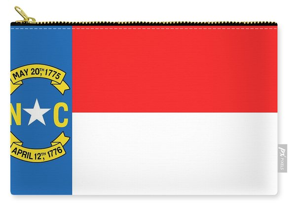 North Carolina State Flag Carry-all Pouch