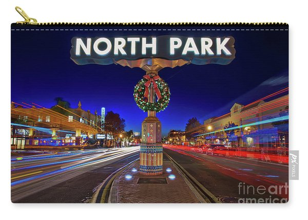 Carry-all Pouch featuring the photograph North Park Christmas Rush Hour by Sam Antonio Photography