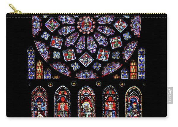 North Rose Window Of Chartres Cathedral Carry-all Pouch