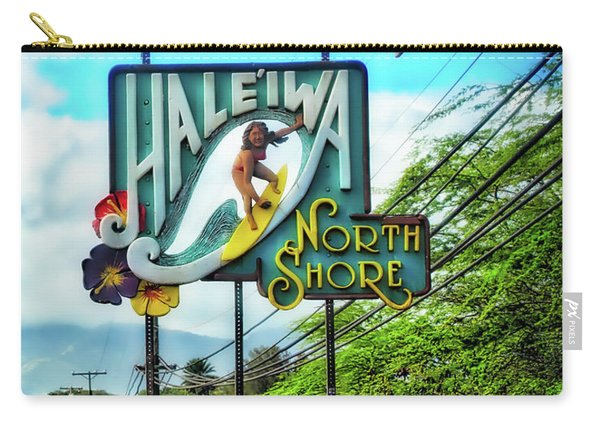North Shore's Hale'iwa Sign Carry-all Pouch