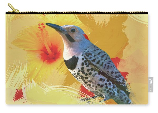 Northern Flicker Watercolor Photo Carry-all Pouch