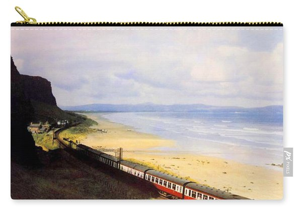 Northern Ireland Coast, Railway, Train, Travel Poster Carry-all Pouch