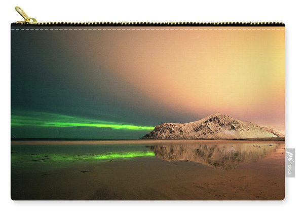 Northern Light In Lofoten Nordland 5 Carry-all Pouch