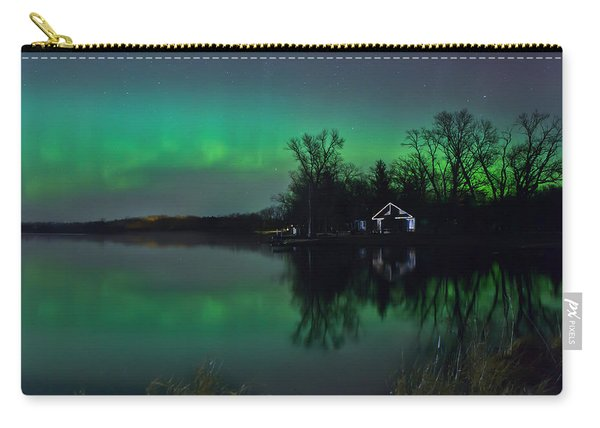 Northern Lights At Gull Lake Carry-all Pouch