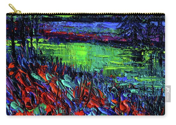 Northern Lights Embracing Poppies Carry-all Pouch