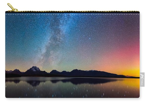 Northern Lights Over Jackson Lake Carry-all Pouch