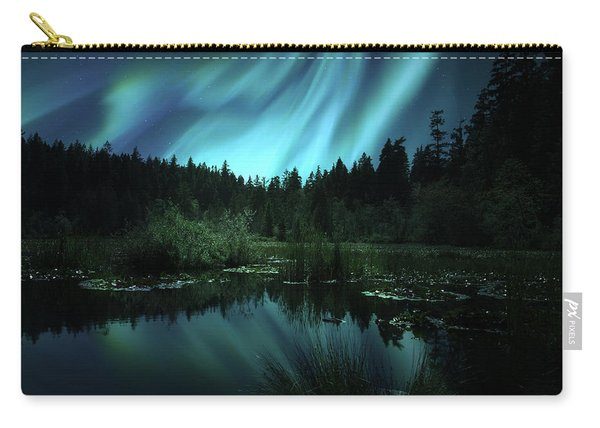 Northern Lights Over Lily Pond Carry-all Pouch