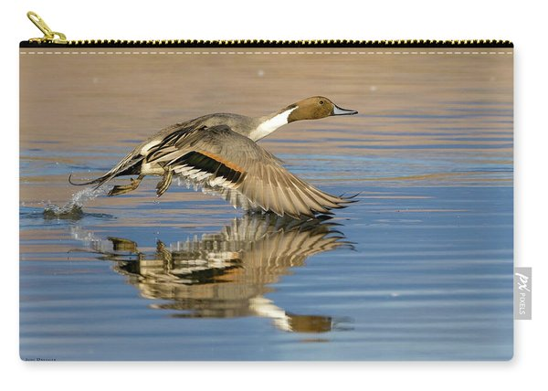 Northern Pintail With Reflection Carry-all Pouch