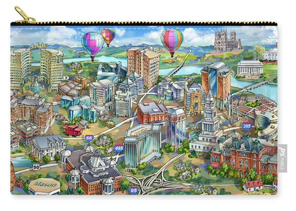 Northern Virginia Map Illustration Carry-all Pouch