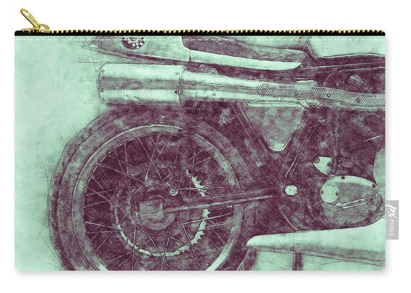 Norton Manx 3 - Norton Motorcycles - 1947 - Vintage Motorcycle Poster - Automotive Art Carry-all Pouch