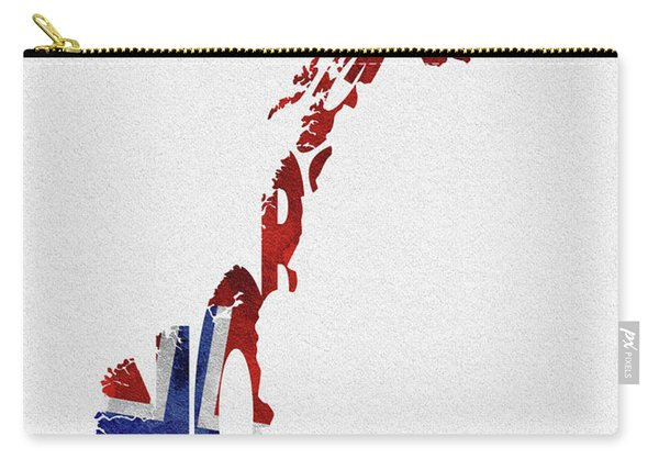 Norway Typographic Map Flag Carry-all Pouch